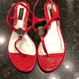 White House Black Market Red Julia1 sandals